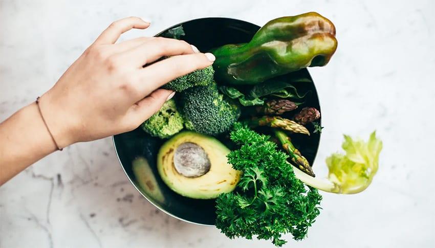 gemüse und avocado