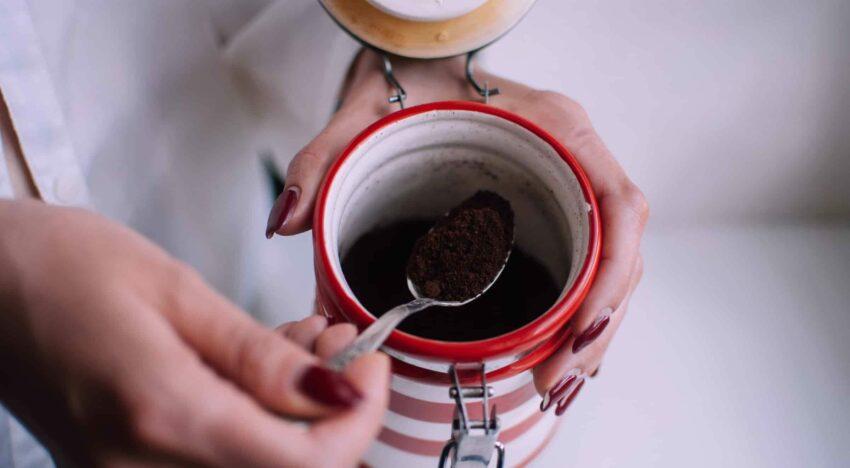 Kaffeesatz Aufbewahrung
