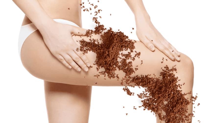 kaffeesatz peeling gegen cellulite