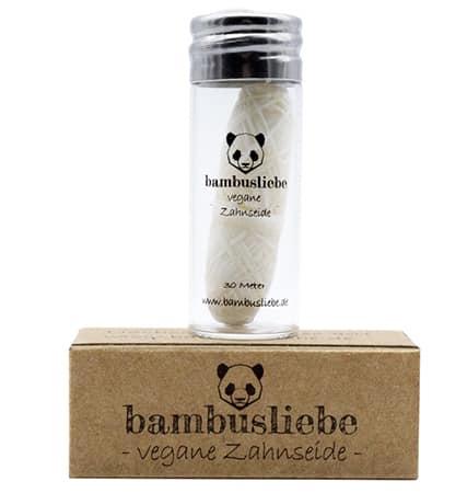 bambusliebe vegane zahnseide Maisseide Candelillawachs