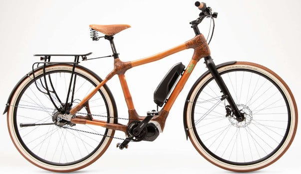 Fahrrad mit Bambusrahmen
