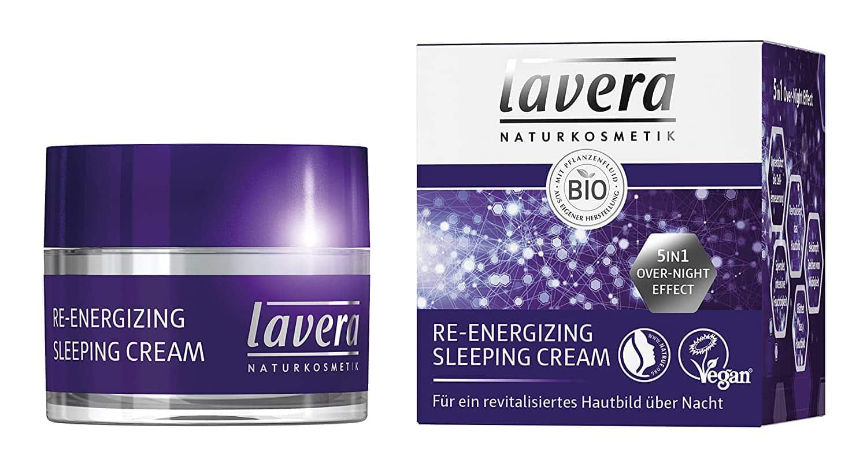 Lavera Nachtcreme mit lila Verpackung