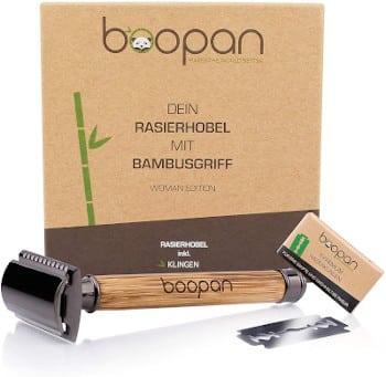 Boopan Rasierhobel mit Bambusgriff