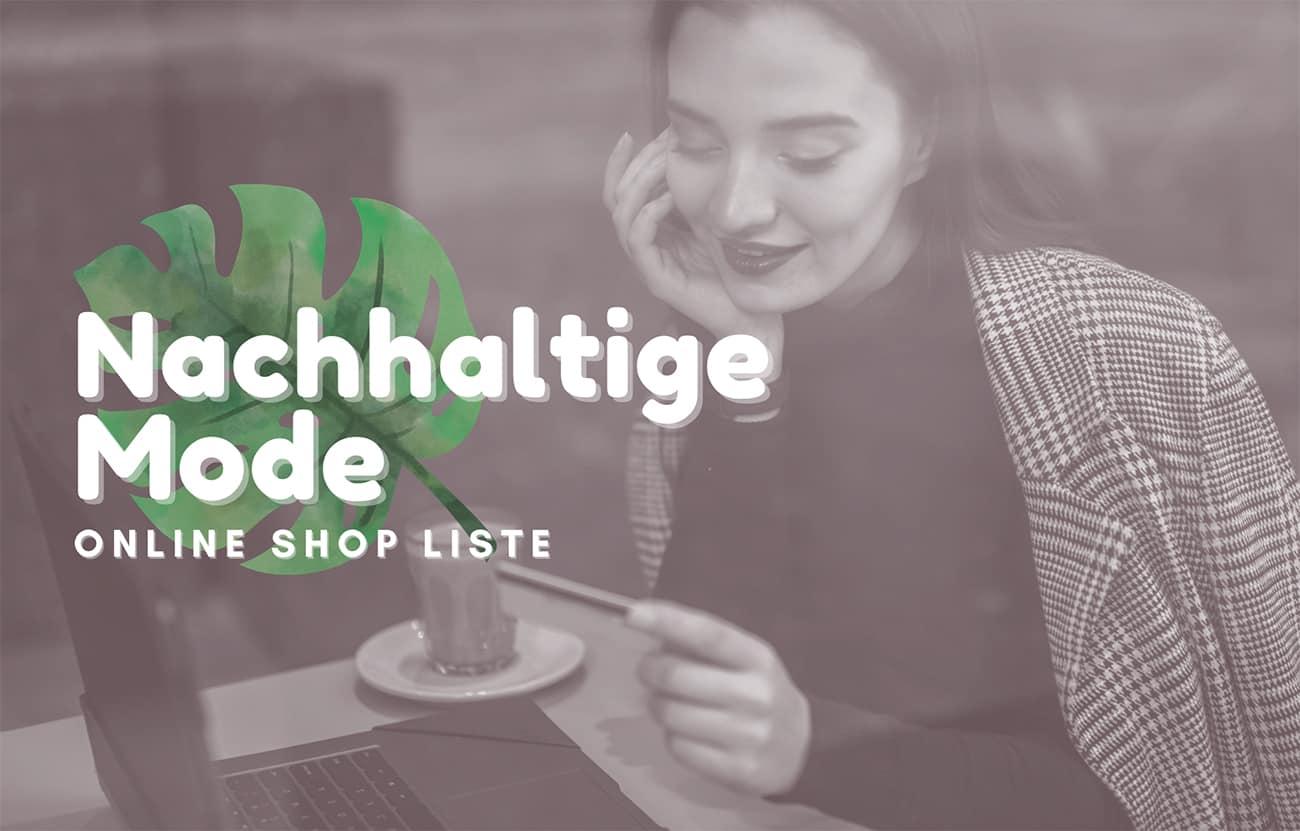 Nachhaltige Mode Online Shops