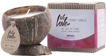Duftkerze in Kokosnussschale