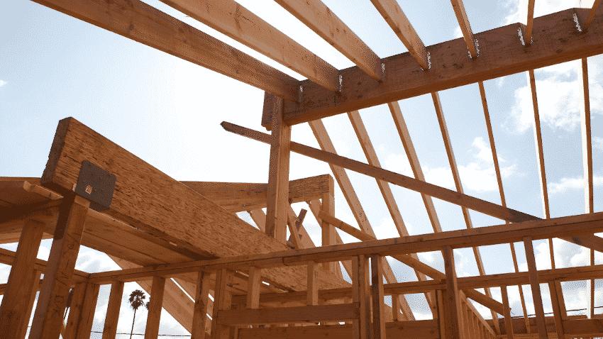 Holzgerüst Hausbau