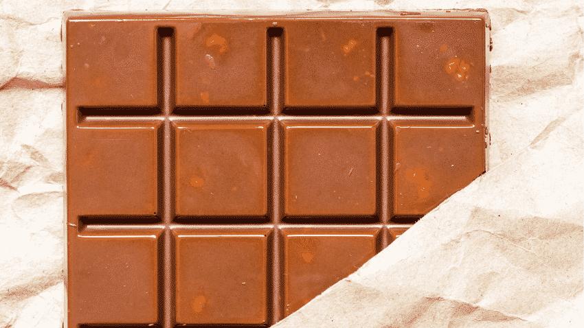 Schokoladentafel in Papier